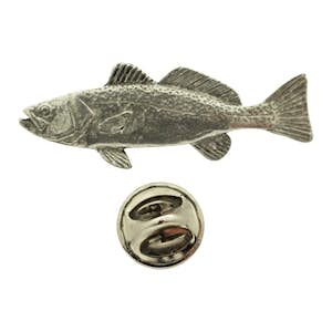 Weakfish Pin ~ Antiqued Pewter ~ Lapel Pin ~ Sarah's Treats & Treasures
