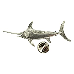 Swordfish Pin ~ Antiqued Pewter ~ Lapel Pin ~ Sarah's Treats & Treasures