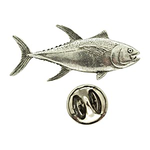 Yellowfin Tuna Pin ~ Antiqued Pewter ~ Lapel Pin ~ Sarah's Treats & Treasures