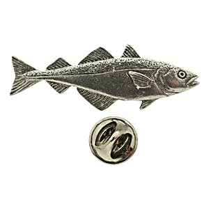 Pollock Pin ~ Antiqued Pewter ~ Lapel Pin ~ Sarah's Treats & Treasures