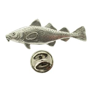 Cod Pin ~ Antiqued Pewter ~ Lapel Pin ~ Antiqued Pewter Lapel Pin ~ Sarah's Treats & Treasures