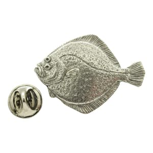 Turbot Pin ~ Antiqued Pewter ~ Lapel Pin ~ Sarah's Treats & Treasures