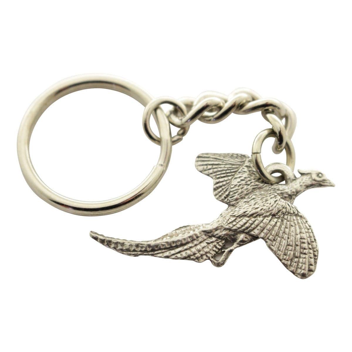 Turkey Strutting Left Keychain ~ Antiqued Pewter ~ Keychain