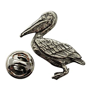 Pelican Pin ~ Antiqued Pewter ~ Lapel Pin ~ Sarah's Treats & Treasures