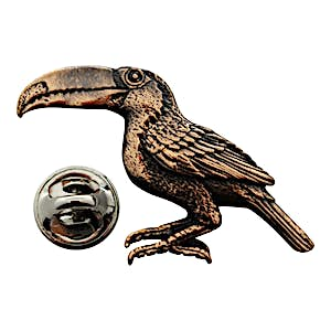 Toucan Pin ~ Antiqued Copper ~ Lapel Pin ~ Sarah's Treats & Treasures