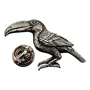 Toucan Pin ~ Antiqued Pewter ~ Lapel Pin ~ Sarah's Treats & Treasures