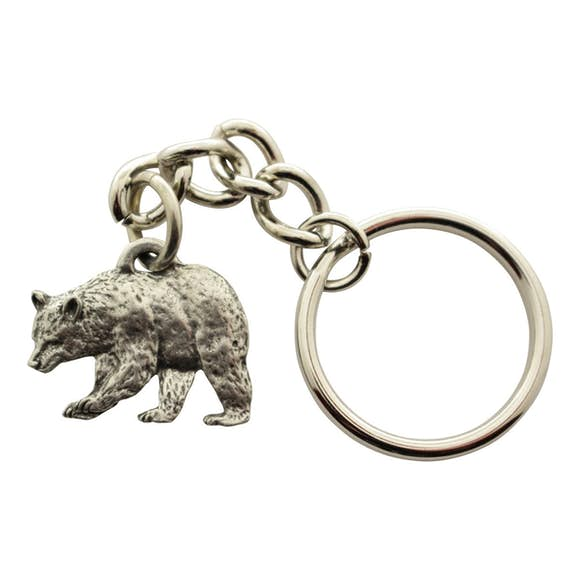 Black Bear Keychain ~ Antiqued Pewter ~ Keychain ~ Sarah's Treats & Treasures