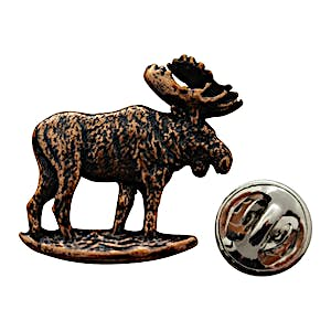 Moose Standing Pin ~ Antiqued Copper ~ Lapel Pin ~ Antiqued Copper Lapel Pin ~ Sarah's Treats & Treasures