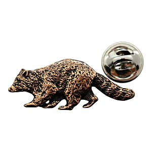 Raccoon Pin ~ Antiqued Copper ~ Lapel Pin ~ Sarah's Treats & Treasures