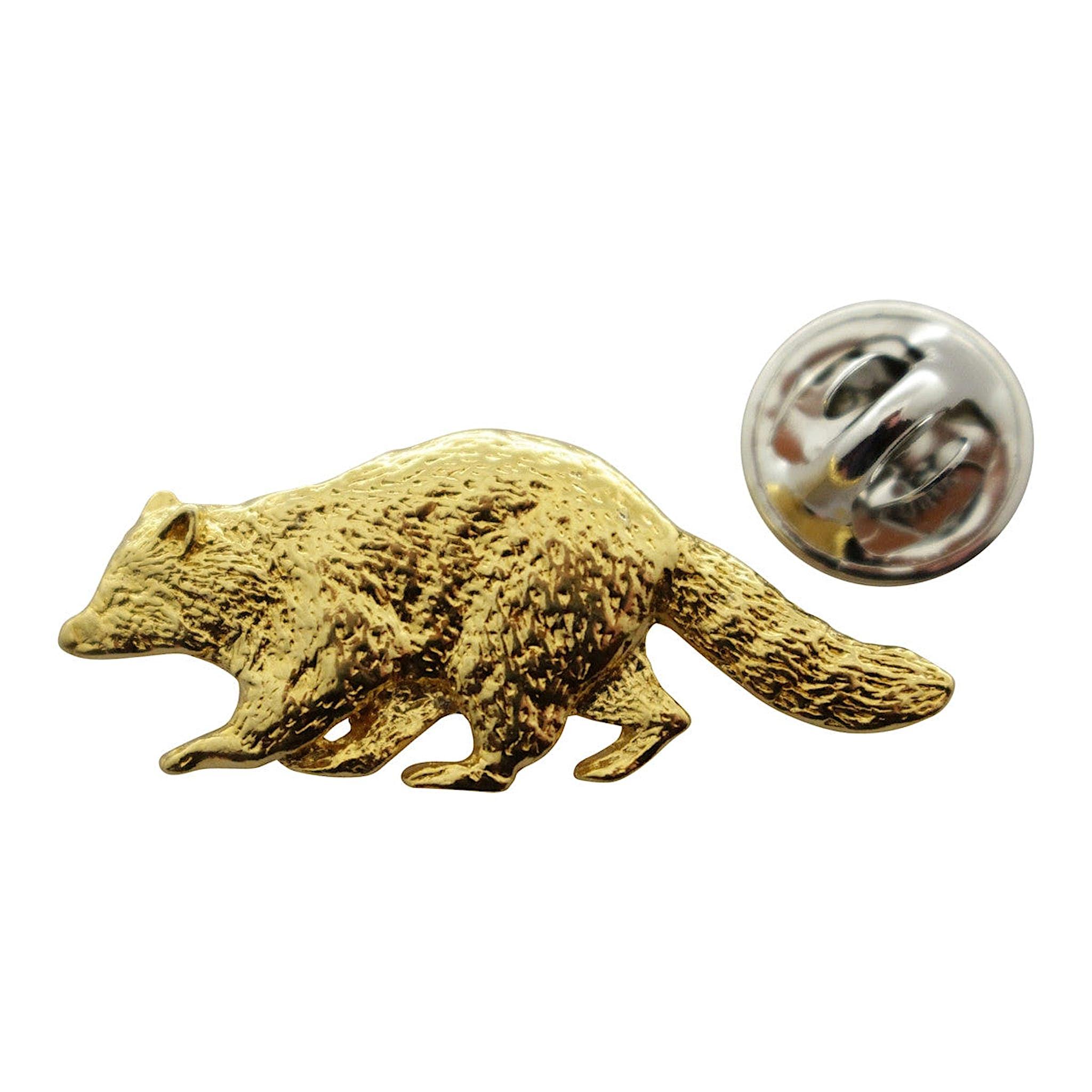 Raccoon Pin ~ 24K Gold ~ Lapel Pin