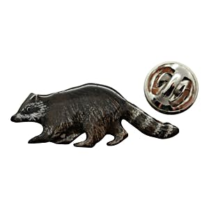 Raccoon Pin ~ Hand Painted ~ Lapel Pin ~ Hand Painted Lapel Pin ~ Sarah's Treats & Treasures