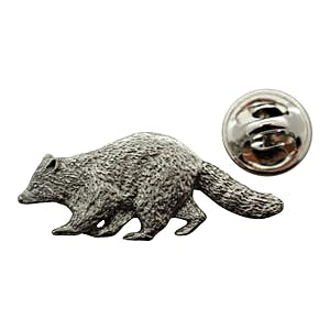 Raccoon Pin ~ Antiqued Pewter ~ Lapel Pin ~ Sarah's Treats & Treasures