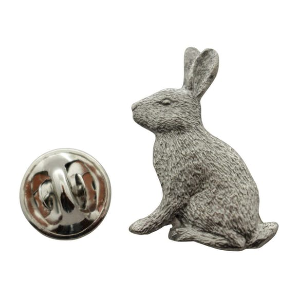 Rabbit Pin ~ Antiqued Pewter ~ Lapel Pin ~ Sarah's Treats & Treasures