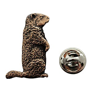 Woodchuck Pin ~ Antiqued Copper ~ Lapel Pin ~ Sarah's Treats & Treasures
