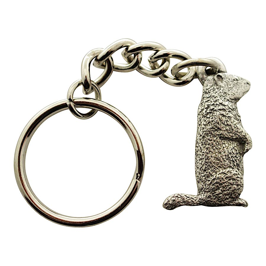 Woodchuck Keychain ~ Antiqued Pewter ~ Keychain ~ Antiqued Pewter Keychain ~ Sarah's Treats & Treasures