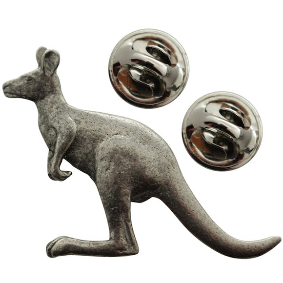 Kangaroo Pin ~ Antiqued Pewter ~ Lapel Pin ~ Sarah's Treats & Treasures