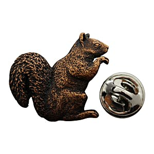 Squirrel Pin ~ Antiqued Copper ~ Lapel Pin ~ Sarah's Treats & Treasures
