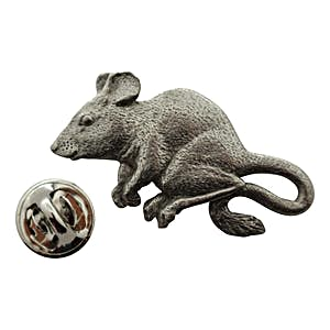 Mouse Pin ~ Antiqued Pewter ~ Lapel Pin ~ Sarah's Treats & Treasures