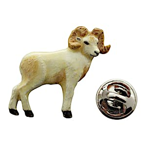 Big Horn Sheep Pin ~ Hand Painted ~ Lapel Pin ~ Sarah's Treats & Treasures