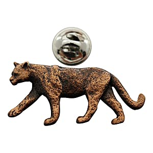 Cougar or Mountain Lion Pin ~ Antiqued Copper ~ Lapel Pin ~ Sarah's Treats & Treasures
