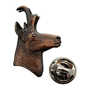 Pronghorn Head Pin ~ Antiqued Copper ~ Lapel Pin ~ Sarah's Treats & Treasures