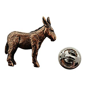 Donkey or Mule Pin ~ Antiqued Copper ~ Lapel Pin ~ Sarah's Treats & Treasures