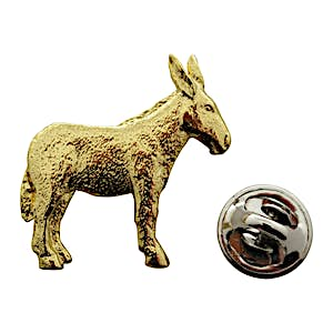 Donkey or Mule Pin ~ 24K Gold ~ Lapel Pin ~ Sarah's Treats & Treasures