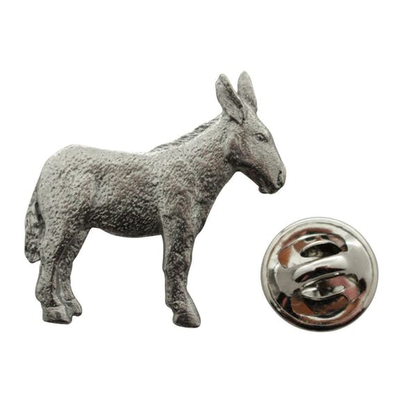 Donkey or Mule Pin ~ Antiqued Pewter ~ Lapel Pin ~ Antiqued Pewter Lapel Pin ~ Sarah's Treats & Treasures