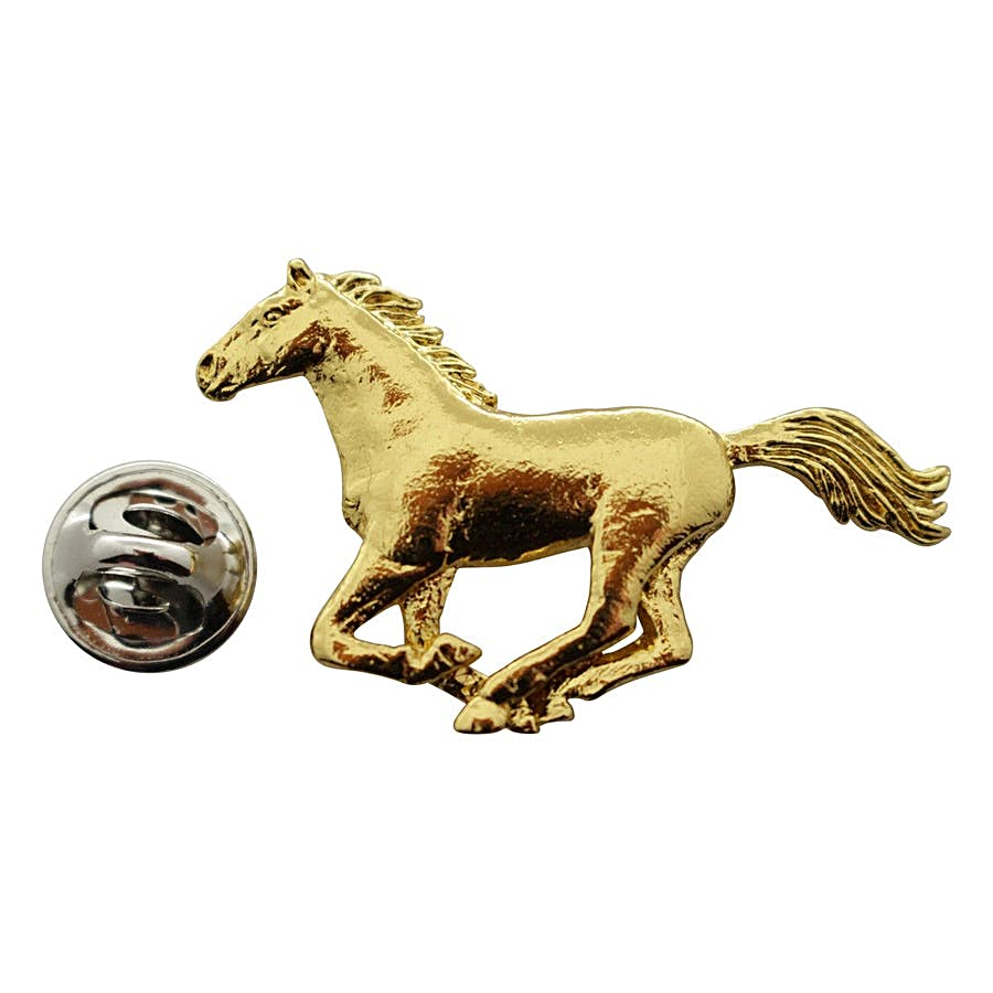 Horse Galloping Pin ~ 24K Gold ~ Lapel Pin ~ 24K Gold Lapel Pin ~ Sarah's Treats & Treasures