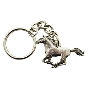 Galloping Horse Keychain ~ Antiqued Pewter ~ Keychain ~ Antiqued Pewter Keychain ~ Sarah's Treats & Treasures