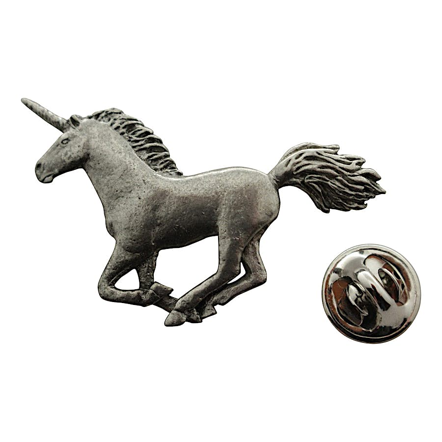 Unicorn Pin ~ Antiqued Pewter ~ Lapel Pin ~ Sarah's Treats & Treasures