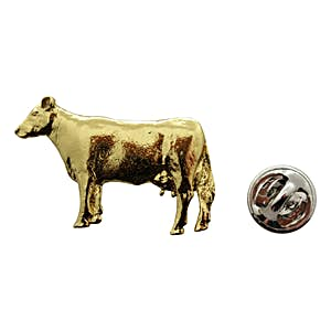 Cow Pin ~ 24K Gold ~ Lapel Pin ~ Sarah's Treats & Treasures