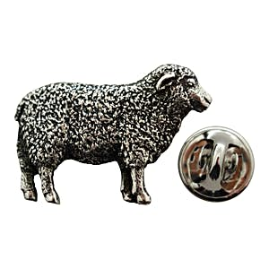 Sheep Pin ~ Antiqued Pewter ~ Lapel Pin ~ Sarah's Treats & Treasures