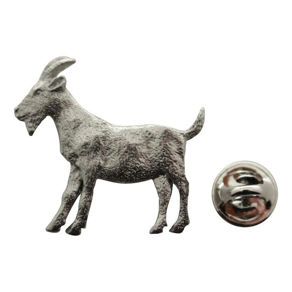Goat Pin ~ Antiqued Pewter ~ Lapel Pin ~ Sarah's Treats & Treasures