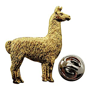 Llama Pin ~ 24K Gold ~ Lapel Pin ~ 24K Gold Lapel Pin ~ Sarah's Treats & Treasures