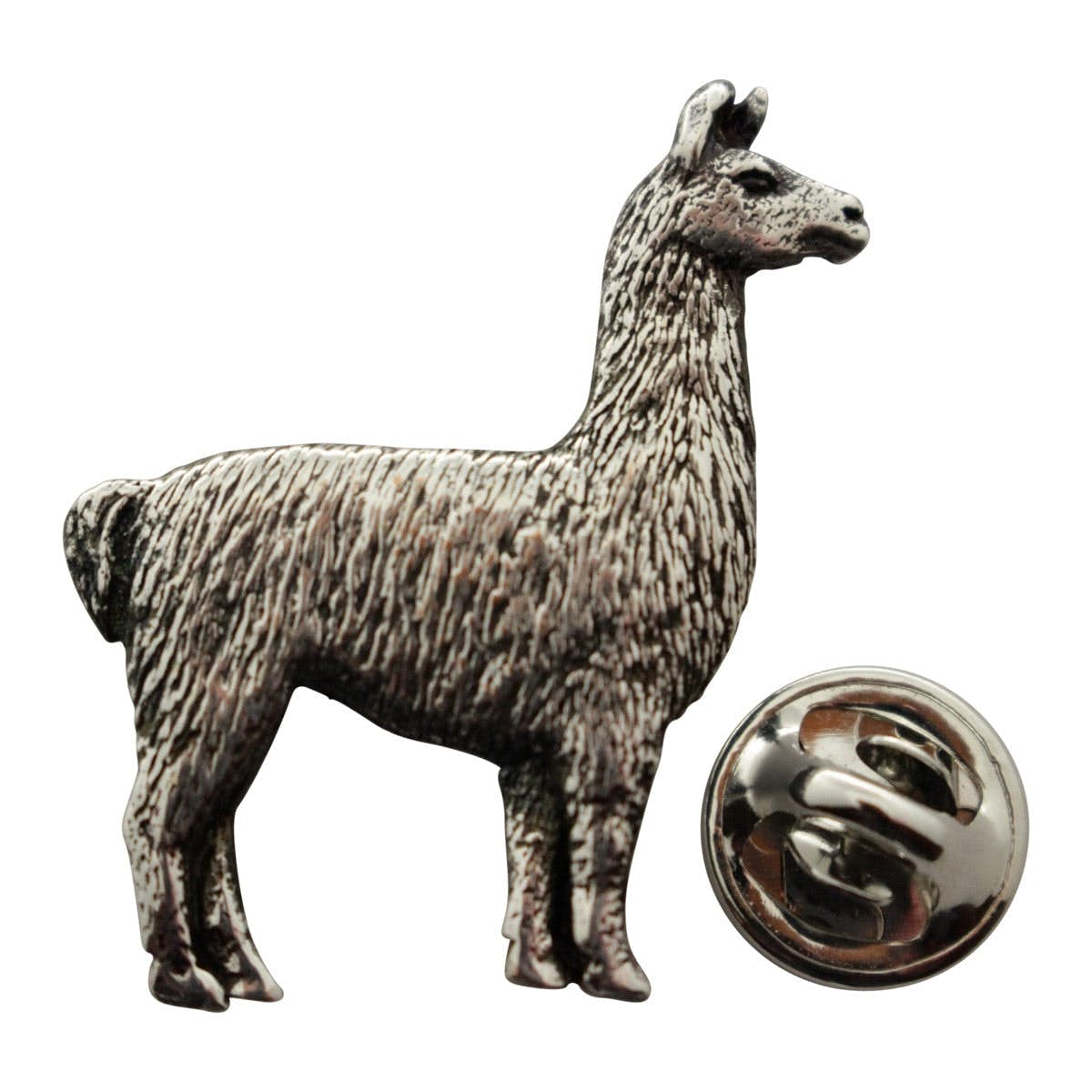 Llama Pin ~ Antiqued Pewter ~ Lapel Pin ~ Sarah's Treats & Treasures