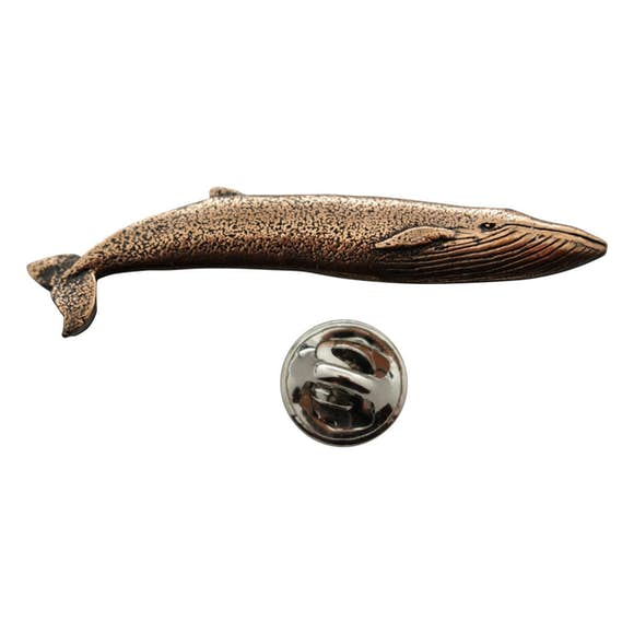 Blue Whale Pin ~ Antiqued Copper ~ Lapel Pin ~ Sarah's Treats & Treasures