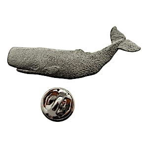 Sperm Whale Pin ~ Antiqued Pewter ~ Lapel Pin ~ Sarah's Treats & Treasures