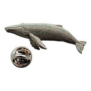 Humpback Whale Pin ~ Antiqued Pewter ~ Lapel Pin ~ Sarah's Treats & Treasures