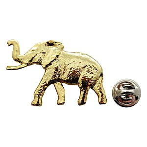 Elephant Pin ~ 24K Gold ~ Lapel Pin ~ Sarah's Treats & Treasures