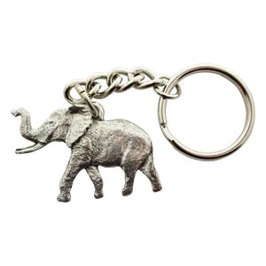 Elephant Keychain ~ Antiqued Pewter ~ Keychain ~ Antiqued Pewter Keychain ~ Sarah's Treats & Treasures