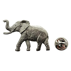Elephant Pin ~ Antiqued Pewter ~ Lapel Pin ~ Sarah's Treats & Treasures