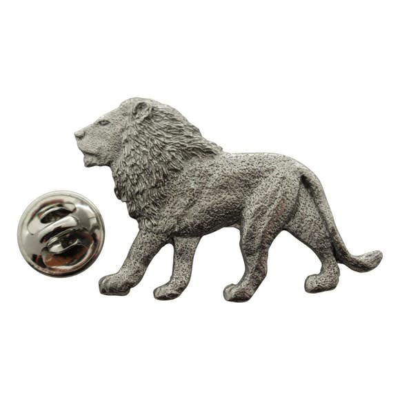 Lion Pin ~ Antiqued Pewter ~ Lapel Pin ~ Sarah's Treats & Treasures