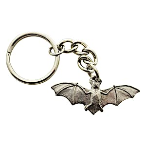 Bat Keychain ~ Antiqued Pewter ~ Keychain ~ Sarah's Treats & Treasures