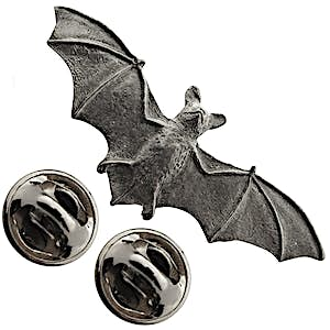 Bat Pin ~ Antiqued Pewter ~ Lapel Pin ~ Sarah's Treats & Treasures