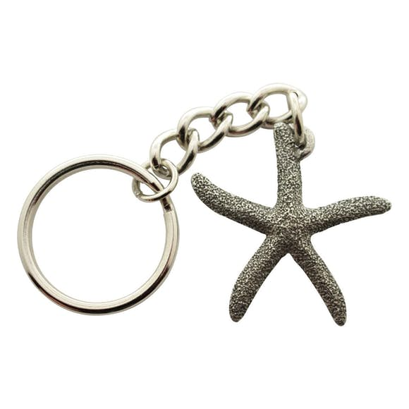 Sugar Star Starfish Keychain ~ Antiqued Pewter ~ Keychain ~ Antiqued Pewter Keychain ~ Sarah's Treats & Treasures