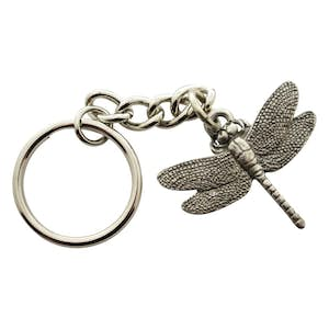 Dragonfly Keychain ~ Antiqued Pewter ~ Keychain ~ Antiqued Pewter Keychain ~ Sarah's Treats & Treasures