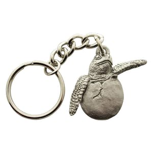 Hatching Sea Turtle Keychain ~ Antiqued Pewter ~ Keychain ~ Antiqued Pewter Keychain ~ Sarah's Treats & Treasures