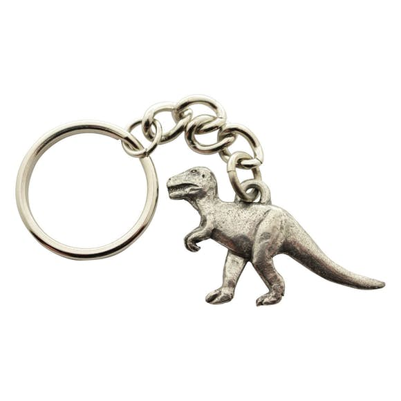 Tyrannosaurus Keychain ~ Antiqued Pewter ~ Keychain ~ Antiqued Pewter Keychain ~ Sarah's Treats & Treasures