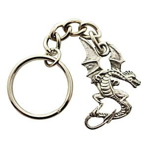 Dragon Keychain ~ Antiqued Pewter ~ Keychain ~ Antiqued Pewter Keychain ~ Sarah's Treats & Treasures